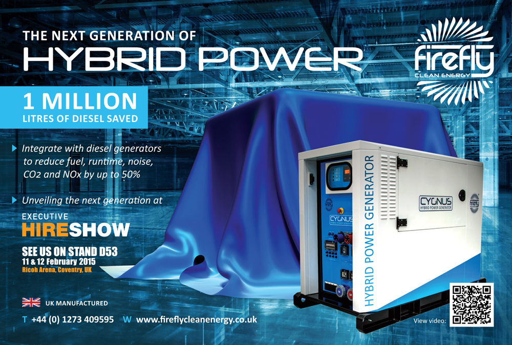 Firefly Hybrid Power Generator Executive Hire Show