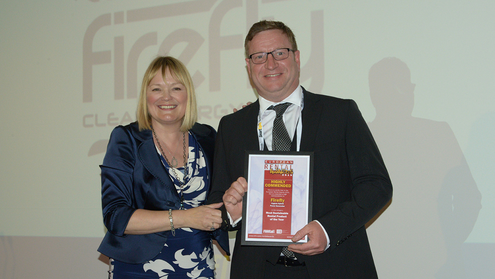 European Rental Awards Association Firefly Hybrid Power Generator