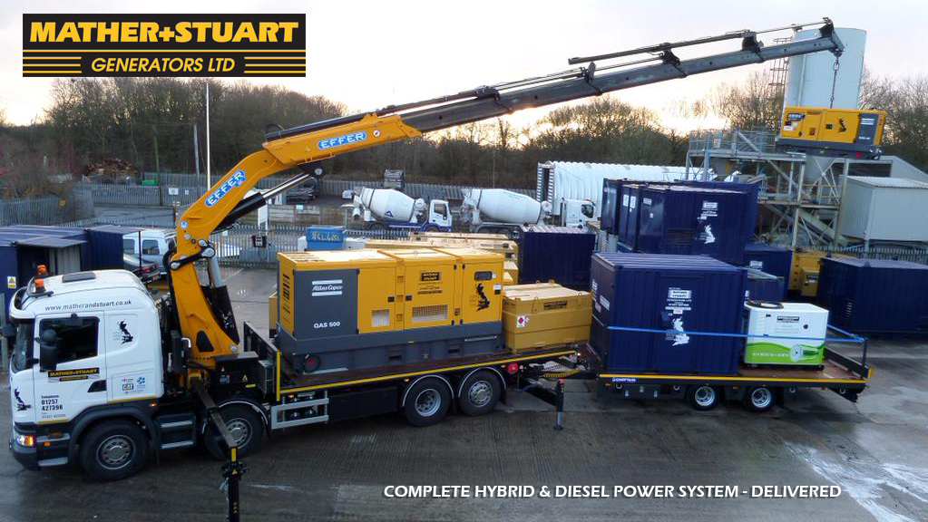 Mather Stuart Generator Hire Hybrid Diesel