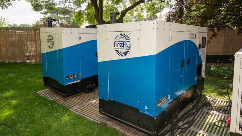 Firefly Hybrid Generators powering a festival.