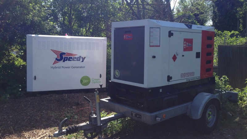 Firefly Hybrid Power Generator deployed to power telecoms mast.