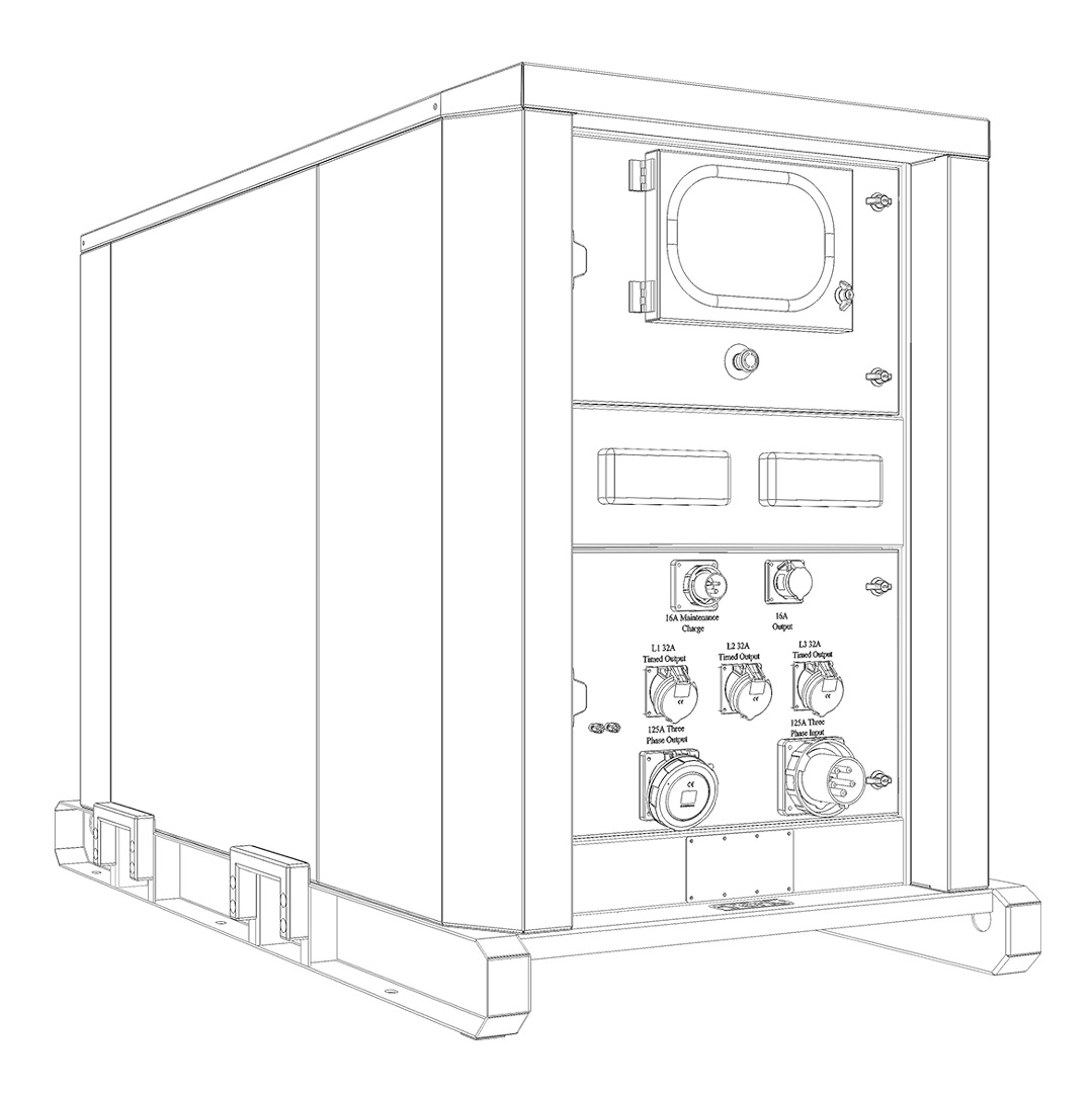 Firefly Cygnus 3 Hybrid Power System (Line Drawing)
