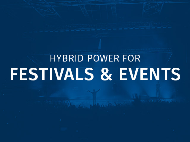 Hybrid power solutions for festival & live event sectors.
