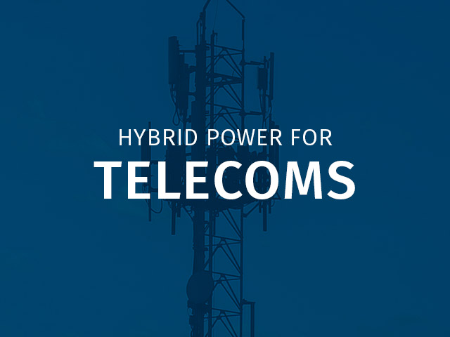 Off-grid hybrid power solutions for the telecoms sector.